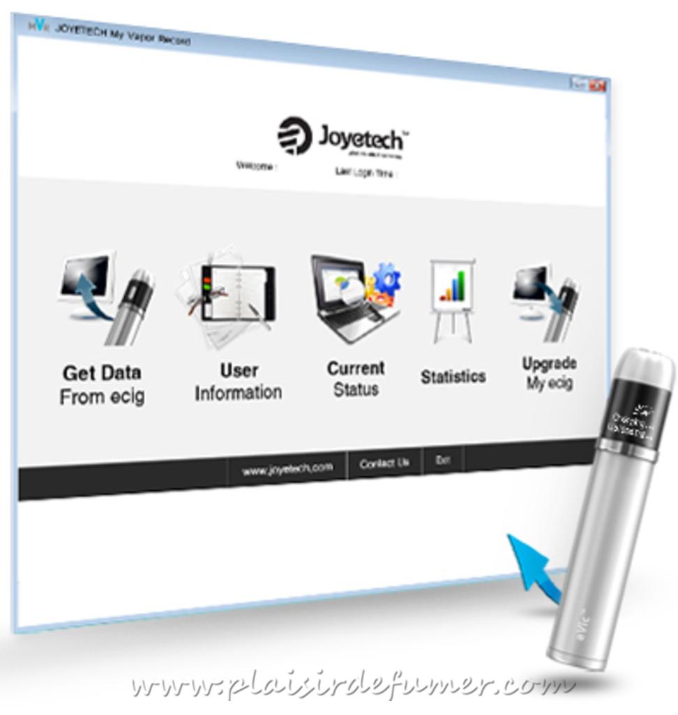logiciel My Vapor Record Evic Joyetech